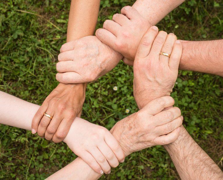 verbindende handen
